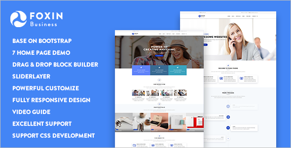 Corporate Business Drupal 8 Themes