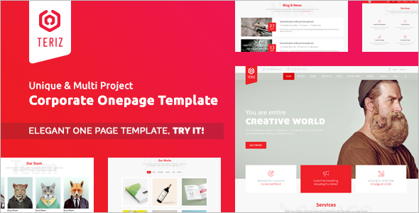 Corporate One Page HTML Template