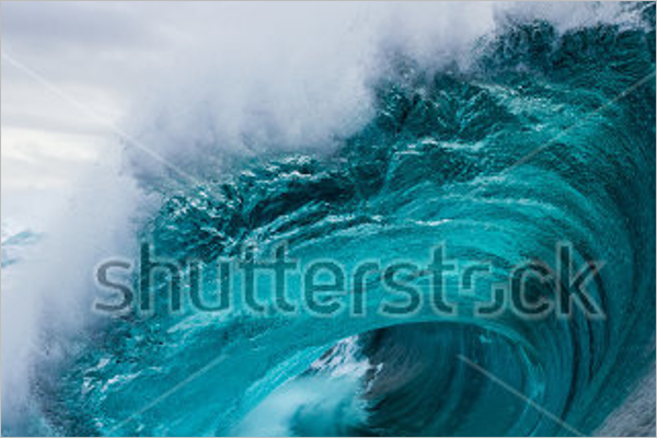Crashing Ocean Wave Background