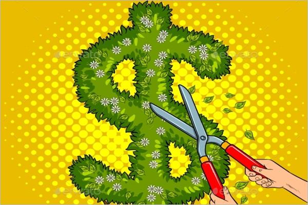 Creative Dollar Background Design