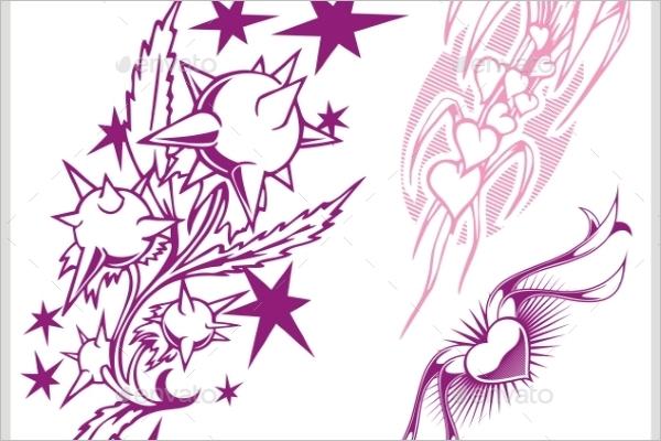 Creative Flower Tattoo Design
