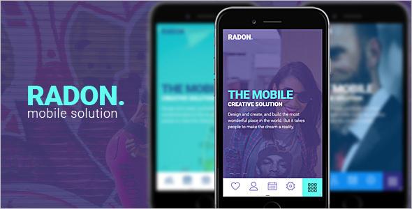 Creative HTML Mobile Template