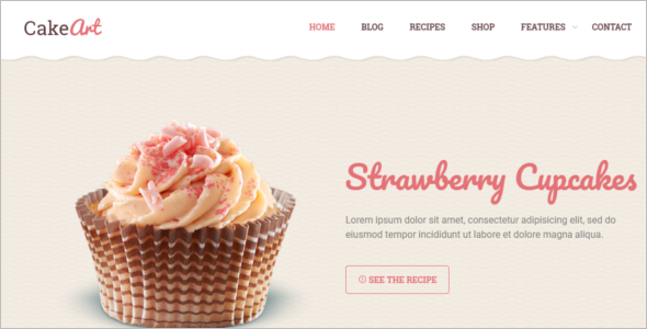 Cup Cake WordPress Theme