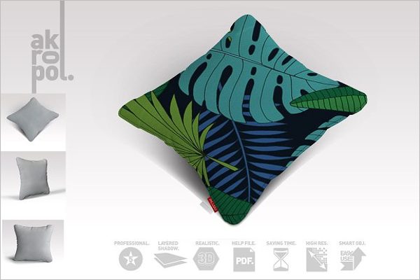 Cushion Pillow Mockup Template