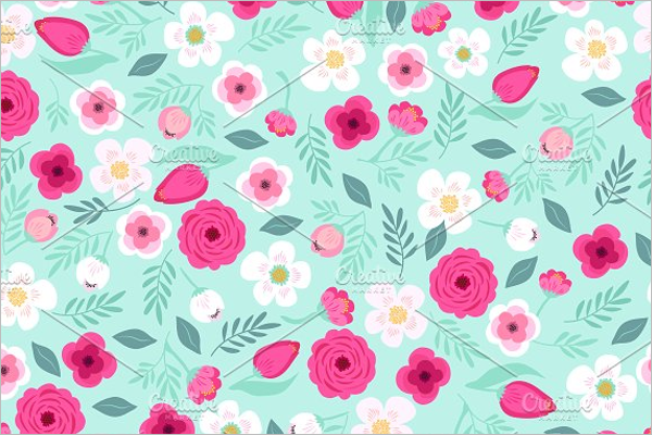 Cute Retro Floral Pattern