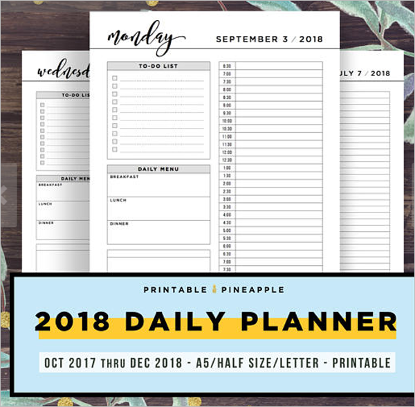 Daily Planner PSD Template