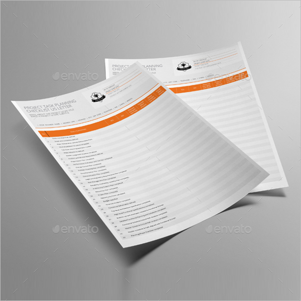 Daily Task Listing Template