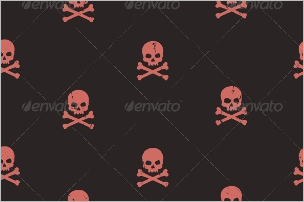 Danger Skull Seamless Pattern