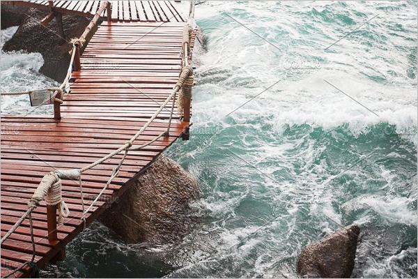 Dangerous Ocean Wave Background
