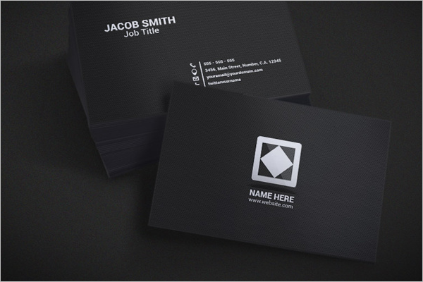 Dark Business Card PSD Design