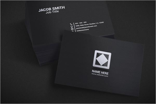 Dark Business Card PSD Design
