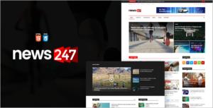 Dark Color Magazine HTML Template