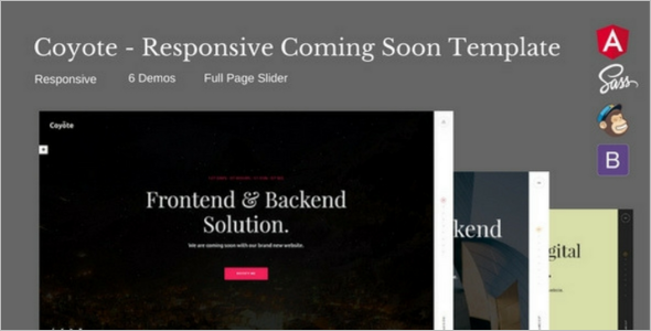 Dark HTML5 Template