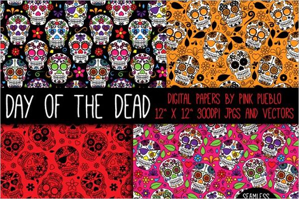 Dead Skulls Pattern Design