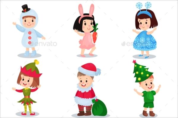 Decoration Cartoon Girl Character