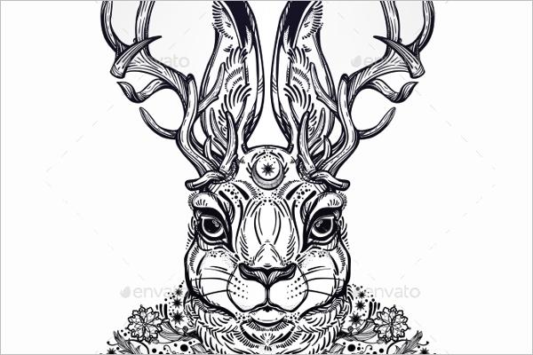 DecorativePortrait Tattoo Sketch Design