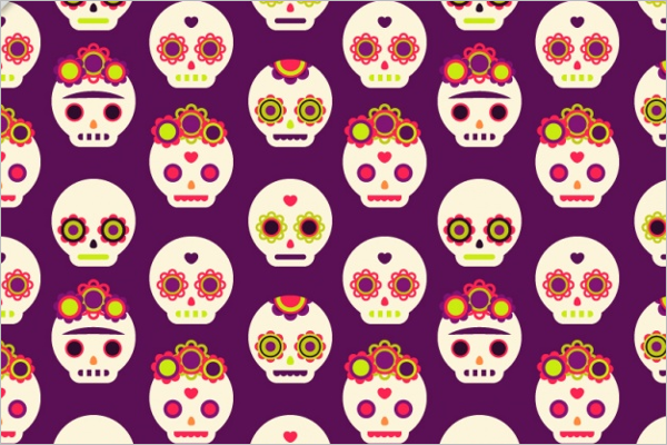 Decorative Skull Pattern Design