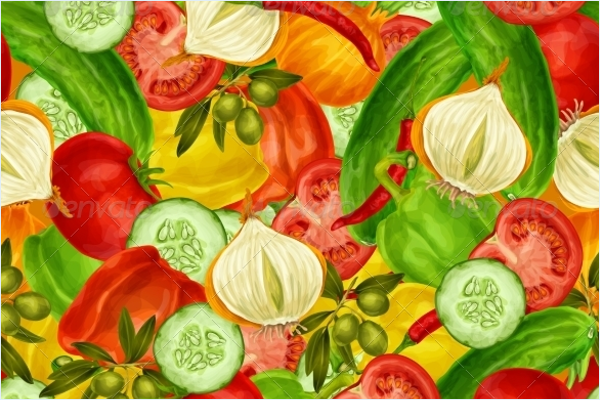 Decorative Vegetable Fabric Design