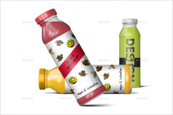 DeliciousJuice Bottle Mockup Design