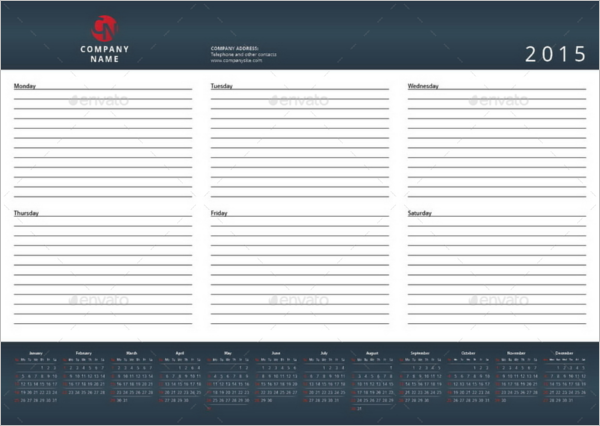 Desktop Weekly Planner Format