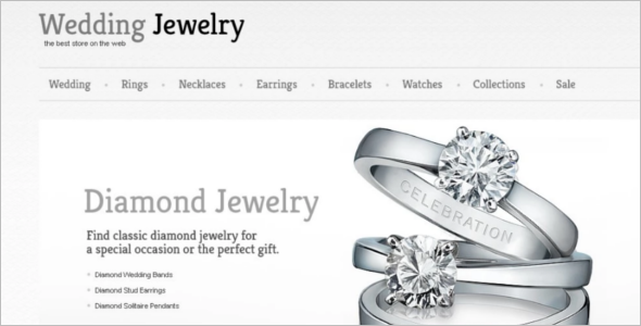 Diamond Jewelry Ecommerce Template