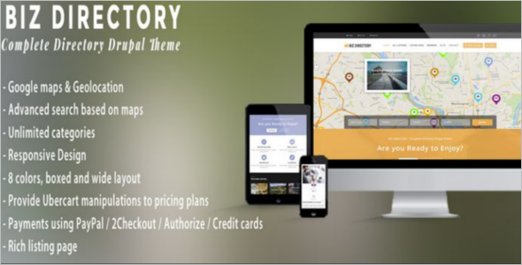Directory Business Drupal 8 Theme