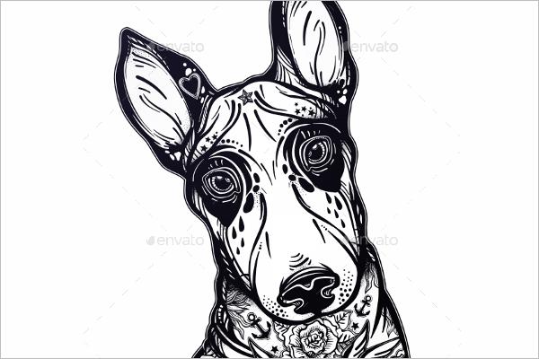 DogPortrait Tattoo Design