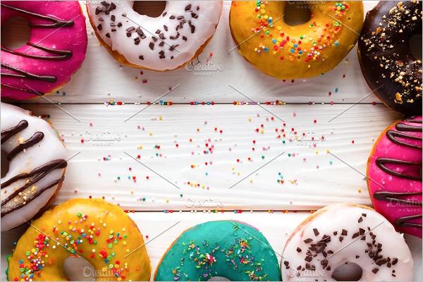 Donuts Breakfast Mockup Template