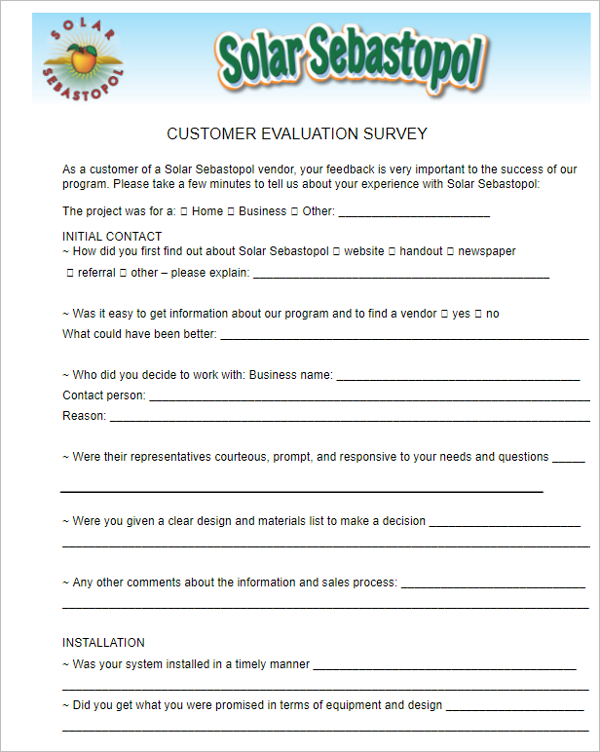 Download General Evaluation Template