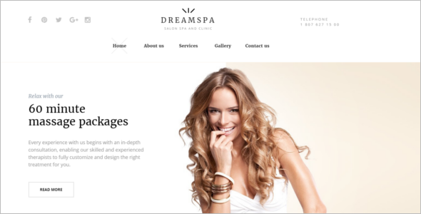 Dream Salon Website Template