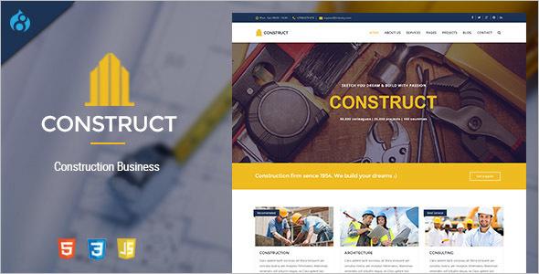 Drupal 8 Construction Business Theme