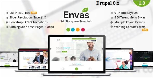 Drupal 8 One Page WordPress Theme