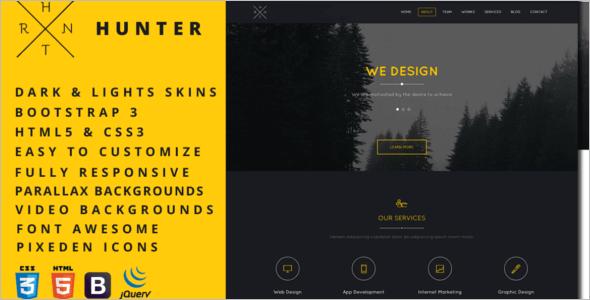 Easy Custamizable Dark HTML5 Template