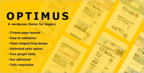 Easy Custamizable WordPress Theme