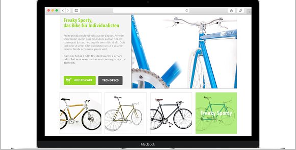 Eco Friendly Bike Shop Website Theme