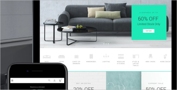 Ecommerce Theme for Furniture Store