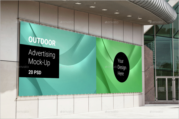 Editable Advertising Mockup Template