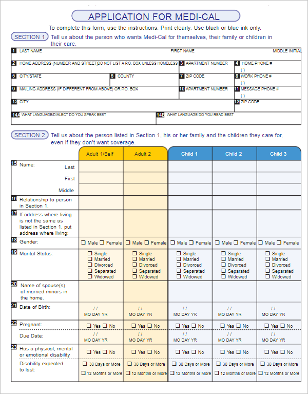 Editable Medical Form Template