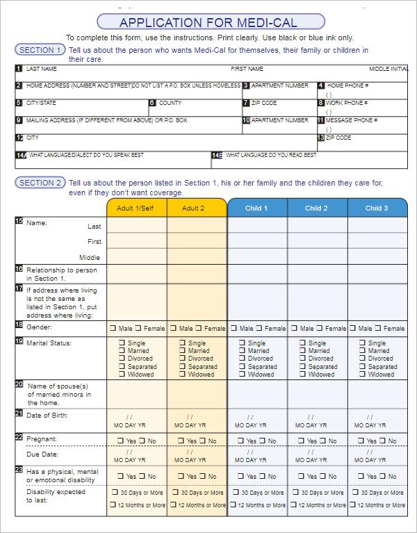Editable Medical Form Template