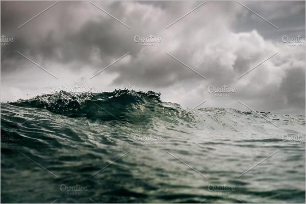 Editable Ocean Wave Background