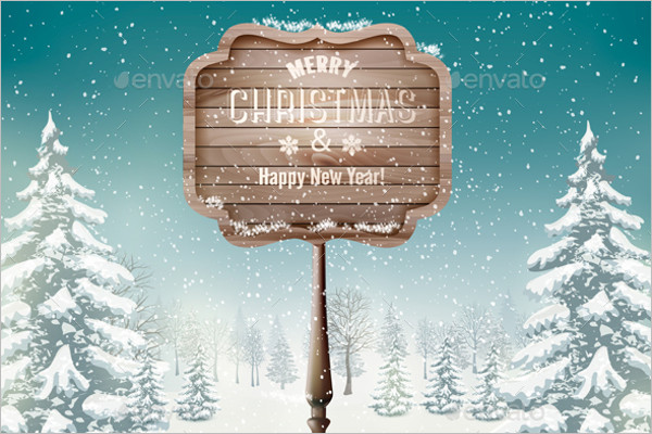 Editable Winter Background Template