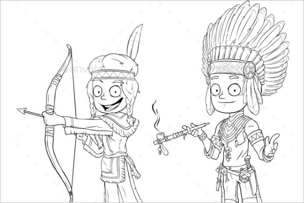 Editable Warrior Cartoon Character