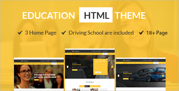 Education HTML Website Template