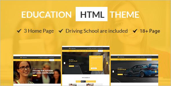 Education HTML Website Template