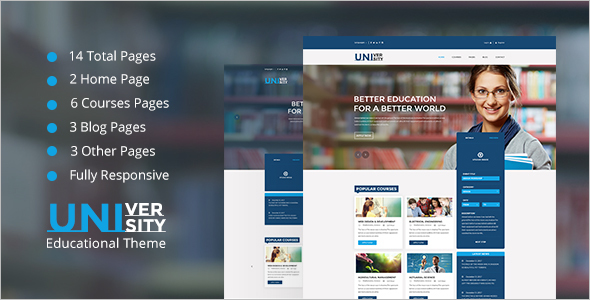 Educational HTML 5 Template