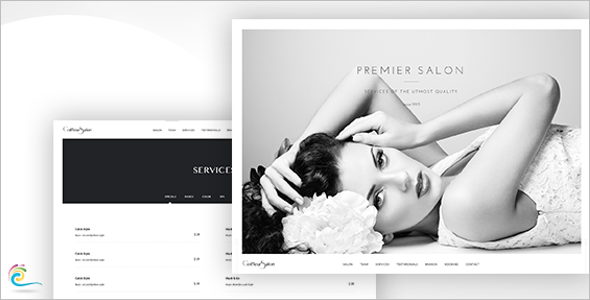 Elegant Beauty Salon Website Template