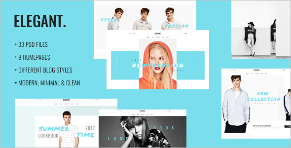 Elegant Fashion Ecommerce Website Template