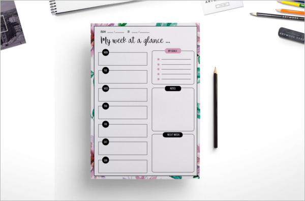 Elegant Planner Template Word