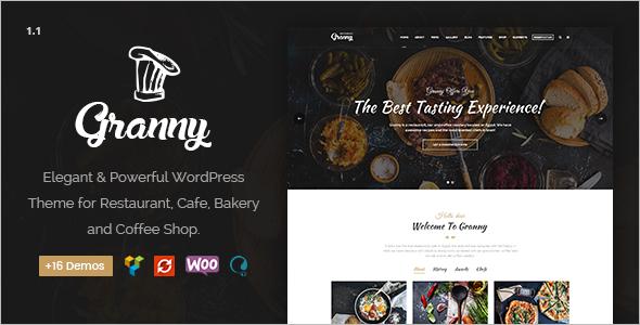 Elegant Restaurant & Cafe WordPress Theme