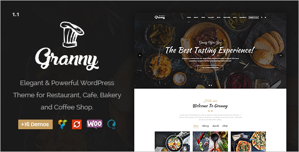 Elegant Restaurant Website Theme